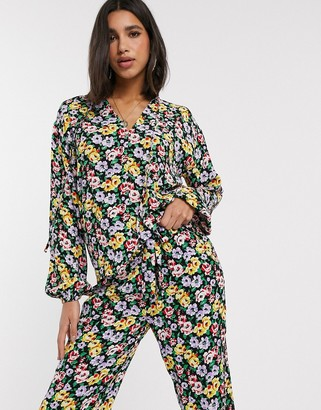 MBYM floral co-ord blouse