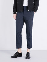 The Kooples Micro-patterned slim-fit cotton trousers