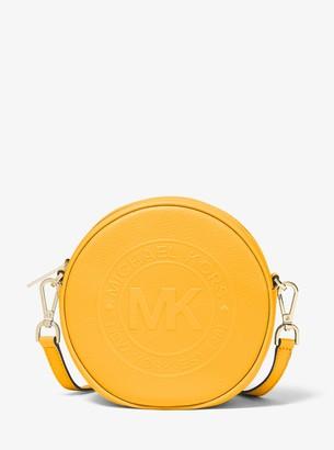 Fulton Small Logo Debossed Leather Canteen Crossbody Bag