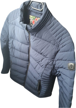 Moose Knuckles Blue Cotton Jackets
