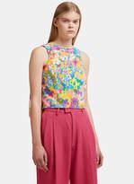 Eckhaus Latta Pillow Back Sleeveless Blouse in Multi-Colour