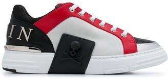 Philipp Plein Statement panelled low-top sneakers