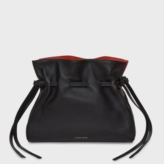 Mansur Gavriel Lamb Mini Protea Bag - Black/Flamma