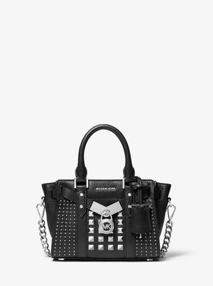 MICHAEL Michael Kors Nouveau Hamilton Extra-Small Studded Pebbled Leather Crossbody Bag