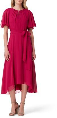 Tahari Chiffon Midi Dress