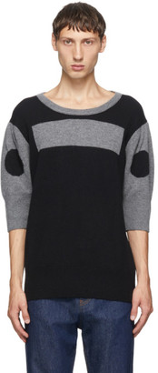 Random Identities Black Wool and Cashmere Morse Code Sweater