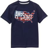 Gymboree Gym Navy 'Awesome' Americana Tee - Infant Toddler & Boys