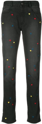 Stella McCartney Heart Embroidered Jeans