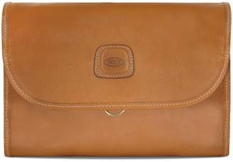 Bric's Life Pelle Leather Tri-Fold Toiletry Kit