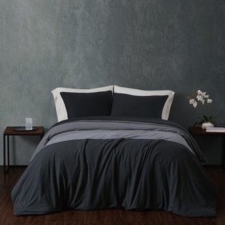 Sean John Colorblock Cotton Jersey Duvet Cover Set