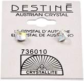 Crystallite Destine Aurora Borealis Cube Earrings