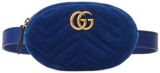 Gucci GG Marmont matelasse velvet belt bag