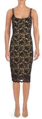 ABS by Allen Schwartz Scoopneck Lace Y-Line Dress