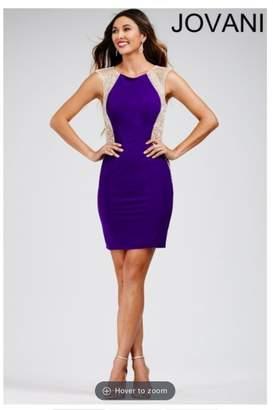 Jovani Purple Embellished Dress