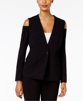 Nine West Cold-Shoulder Blazer