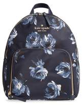 Kate Spade Watson Lane Night Rose Hartley Nylon Backpack