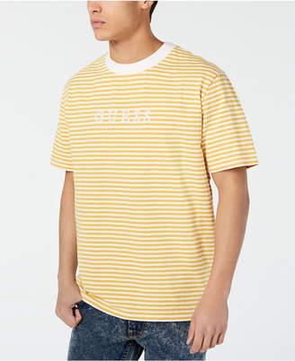 GUESS Originals Men Go Stripe Logo Graphic T-Shirt