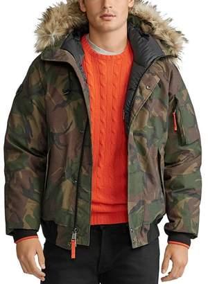 Polo Ralph Lauren Camo Faux-Fur-Trim Down Bomber Jacket