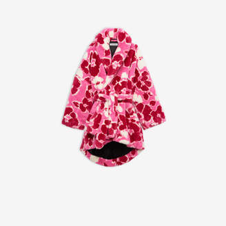 Balenciaga Cocoon Wrap Coat in pink and white Cristobal Peony fake fur
