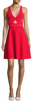 KENDALL + KYLIE Pointelle Open-Back Short Cocktail Dress, Red