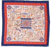 Hermes Forces de La Vie Silk Pocket Square