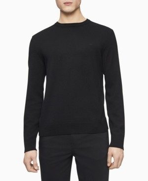 Calvin Klein Merino Crew Neck Logo Sweater