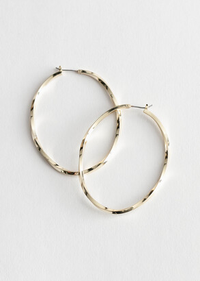 And other stories Spiral Large Hoop Earrings