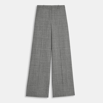 Theory Wide Trouser in Wales Flannel