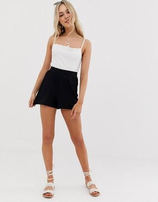Asos Design DESIGN culotte shorts-Black