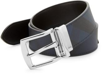 Burberry Clarke Checker Leather Reversible Belt
