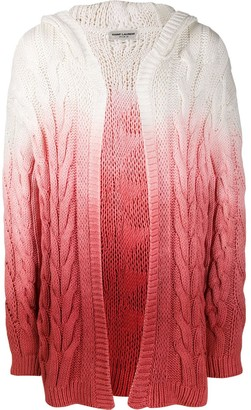 Saint Laurent Ombre-Effect Cable Knit Cardigan