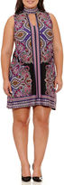Tiana B Sleeveless Paisley Sheath Dress-Plus