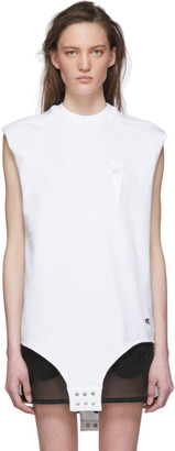 Rick Owens White Champion Edition Sleeveless T-Shirt