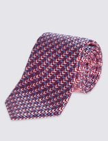 Marks and Spencer Pure Silk Zigzag Print Tie