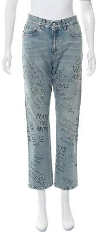 Gucci 2016 High-Rise Jeans