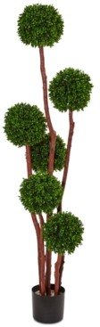 Nearly Natural 5' Boxwood Artificial Indoor/Outdoor Tree