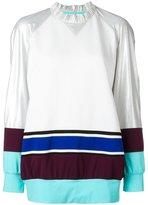 NO KA 'OI No Ka' Oi - metallic sweatshirt - women - Cotton/Polyamide/Polyester/Spandex/Elastane - XS