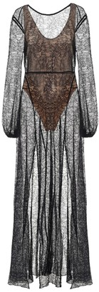 Rotate by Birger Christensen Lisa floral-lace maxi dress