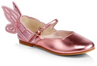 Sophia Webster Little Girl's & Girl's Chiara Metallic Ballet Slippers