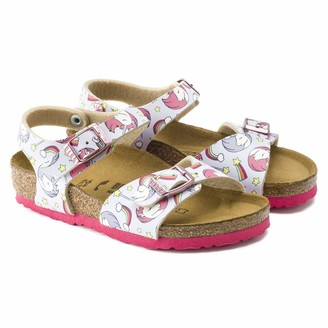 Birkenstock Girls Sandales Rio Plain Birko-Flor Unicorn Pink 11.5 UK