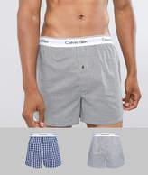 Calvin Klein 2 pack Modern Cotton woven boxers