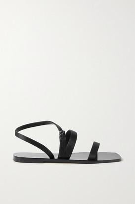 The Row Satin Sandals - Black