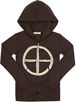 Lennon and Wolfe Blake Zip-Front Hoodie-BLACK
