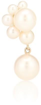 Sophie Bille Brahe Federico Perle 14kt gold single earring with pearls