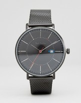 Paul Smith P10087 Track Mesh Watch In Black 42mm