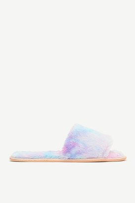 Ardene Tie-dye Faux Fur Slide Slippers