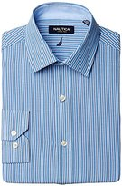 Nautica Men's Blue Striped Button-Front Shirt
