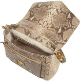 797 Snake-Effect Leather And Raffia Tote
