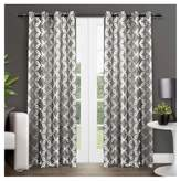 "Exclusive Home Modo Metallic Geometric Window Curtain Panel Pair (54""x96"") Exclusive Home"