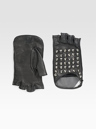 Burberry Studded Leather Driving Gloves